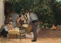 campesinos pelando cebollas by rigoberto soler [perez]